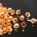 Beads, Imitation Crystal beads, Acrylic, orange, Faceted Bicones, Diameter 4mm, 2g, 100 Beads, (SLZ0414)